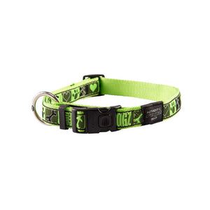 Rogz Fancy Dress Extra Large Armed Response Dog Collar Lime Juice
