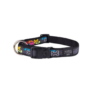 Rogz Fancy Dress Extra Large Armed Response Dog Collar Multi Bone