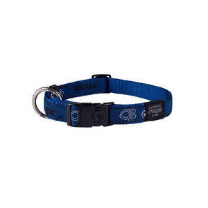 Rogz Fancy Dress Extra Large Armed Response Dog Collar Navy Paw