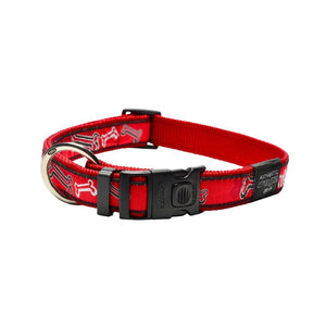 Rogz Fancy Dress Extra Large Armed Response Dog Collar Red Bone