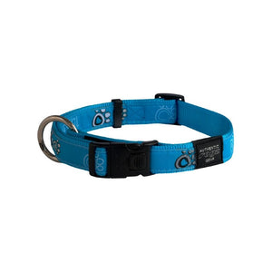 Rogz Fancy Dress Extra Large Armed Response Dog Collar Turquoise Paw