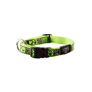 Rogz Fancy Dress Large Beach Bum Dog Collar Lime Juice