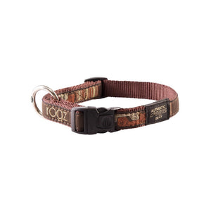 Rogz Fancy Dress Large Beach Bum Dog Collar Pink Mocha Bone