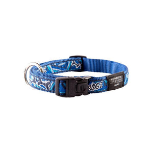 Rogz Fancy Dress Large Beach Bum Dog Collar Navy Zen