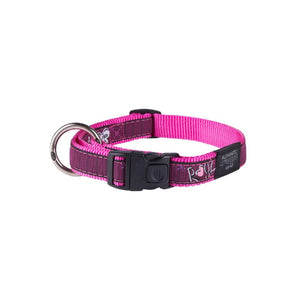 Rogz Fancy Dress Large Beach Bum Dog Collar Pink Love