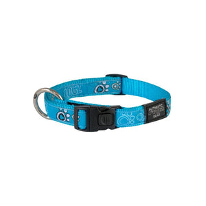 Rogz Fancy Dress Large Beach Bum Dog Collar Turquoise Paw