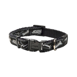 Rogz Fancy Dress Small Jellybean Dog Collar Black