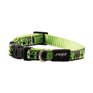 Rogz Fancy Dress Small Jellybean Dog Collar Lime