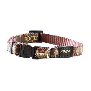 Rogz Fancy Dress Small Jellybean Dog Collar Mocha