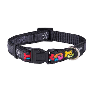 Rogz Fancy Dress Small Jellybean Dog Collar Multi
