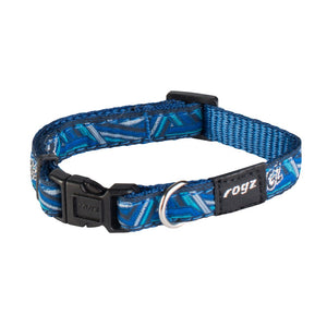 Rogz Fancy Dress Small Jellybean Dog Collar Blue