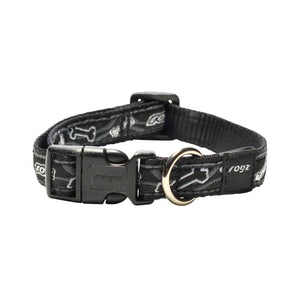 Rogz Fancy Dress Scooter Dog Collar Black Bone