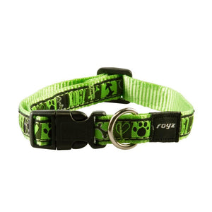 Rogz Fancy Dress Scooter Dog Collar Lime Juice