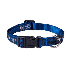 Rogz Fancy Dress Scooter Dog Collar Navy Paw