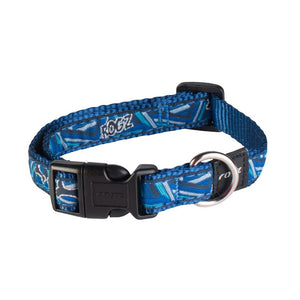 Rogz Fancy Dress Scooter Dog Collar Navy Zen