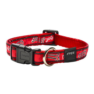 Rogz Fancy Dress Scooter Dog Collar Red Bone
