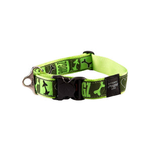 Rogz Fancy Dress Extra Extra Large Special Agent Dog Collar Red Lime Juice