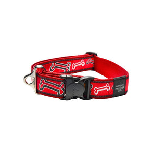 Rogz Fancy Dress Extra Extra Large Special Agent Dog Collar Red Bone