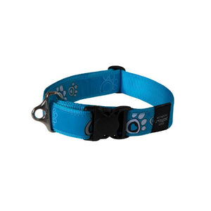 Rogz Fancy Dress Extra Extra Large Special Agent Dog Collar Turquoise Paw