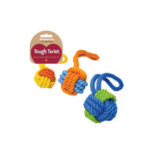 Rosewood Rubber & Rope Ball Tug