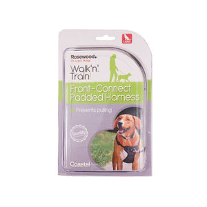 Rosewood Walk 'n' Train Front Connect Padded Harness Large