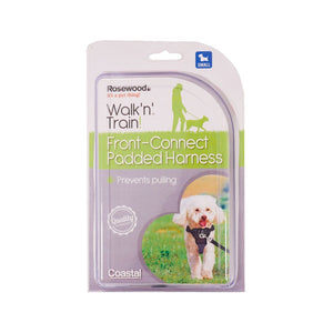 Rosewood Walk 'n' Train Front Connect Padded Harness Small