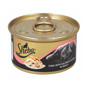 Sheba Wet Cat Food Tuna With Salmon Flavour In Gravy