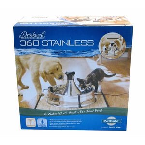 PetSafe Drinkwell 360 Stainless Steel Water Fountain