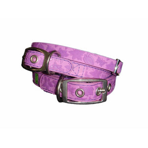 Gummi Dog Collar - Purple Floral