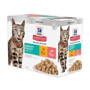 Science Plan Feline Perfect Weight Chicken & Salmon Pouch Multipack