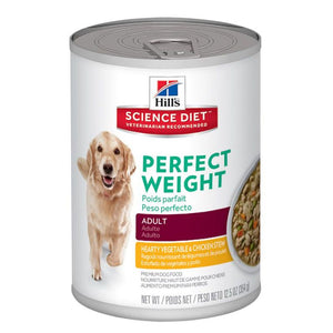 Hill's Science Plan Canine Perfect Weight Vegetable & Chicken Stew Tin
