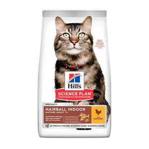 Science Plan Feline Mature Adult Hairball Indoor Chicken Cat Food