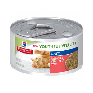 Science Plan Feline Youthful Vitality 7+ Salmon & Vegetable Stew Tin