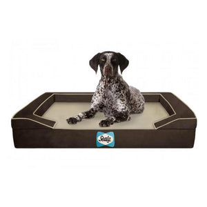 Sealy Lux Premium Orthopaedic Dog Bed - Autumn Brown