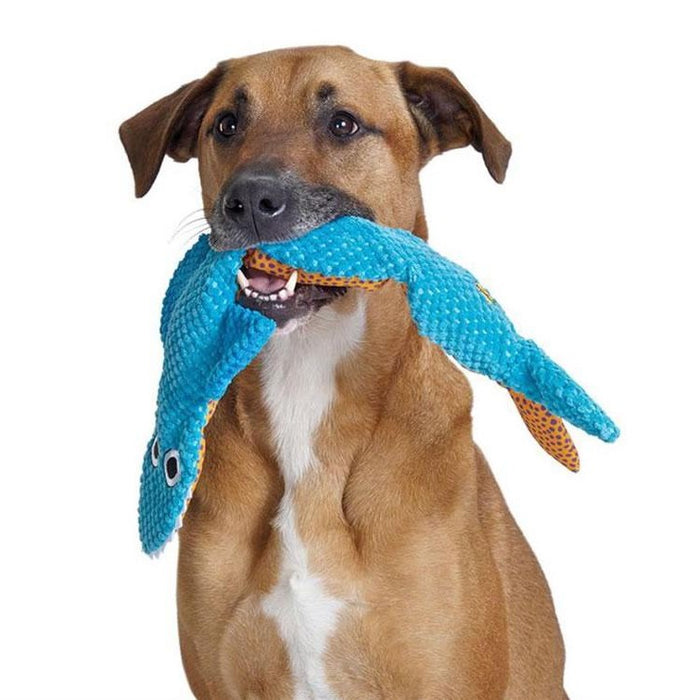 Petstages Stuffing Free Floppy Shark