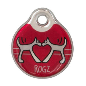 Rogz Instant ID Tagz - Red Heart