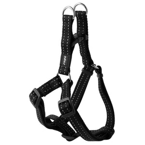 Rogz Snake Reflective Step-in Harness - Black