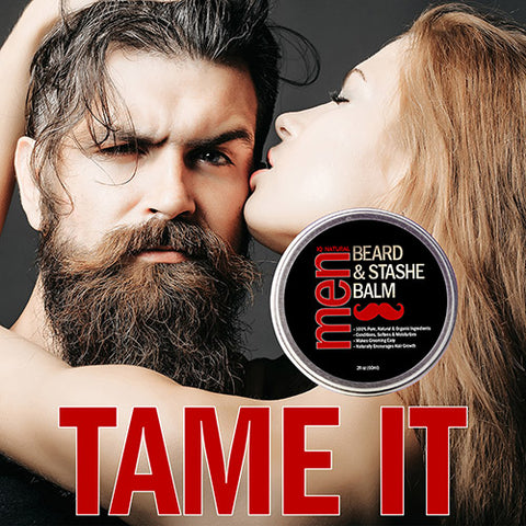 Image of Beard & Stash Balm - Leave in Beard Conditioner - iQ Natural