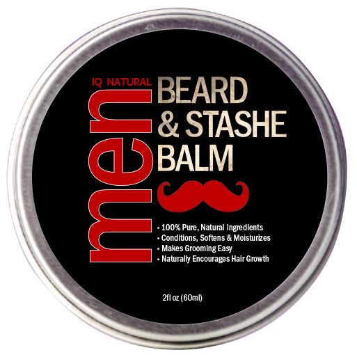 Beard & Stashe Balm - Leave in Beard Conditioner - iQ Natural