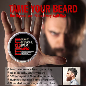 Beard & Stash Balm - Leave in Beard Conditioner - iQ Natural