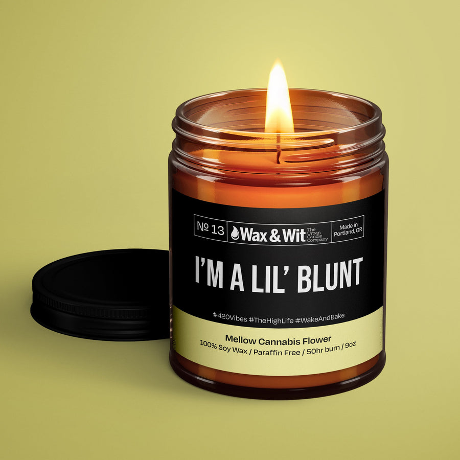 Soy Candle - I'm a Lil' Blunt - iQ Natural