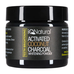 Activated Coconut Charcoal Powder - Teeth Whitening - iQ Natural