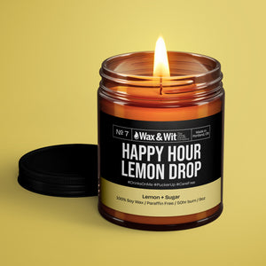Soy Candle - Happy Hour Lemon Drop - iQ Natural