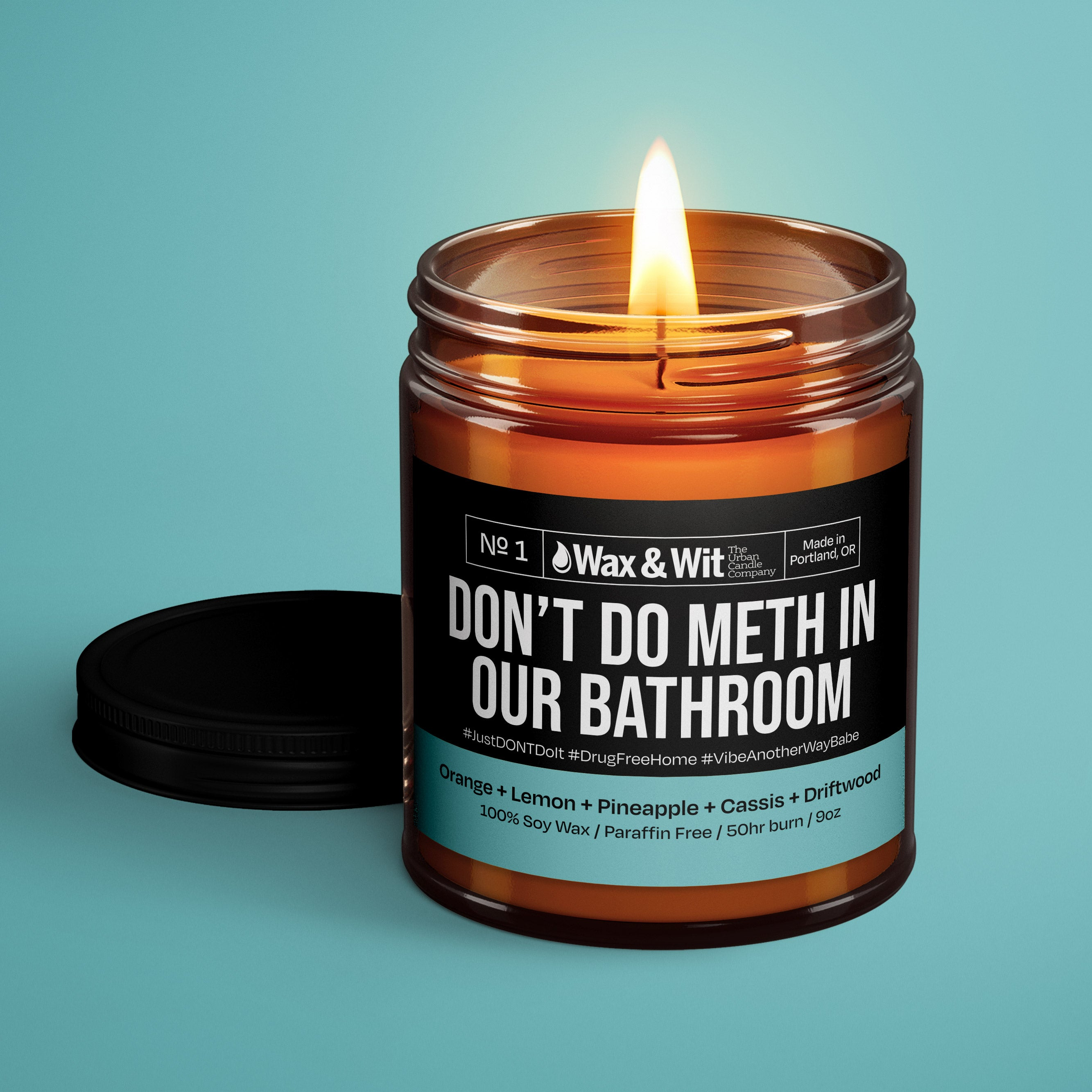 Soy Candle Don T Do Meth In Our Bathroom Iq Natural