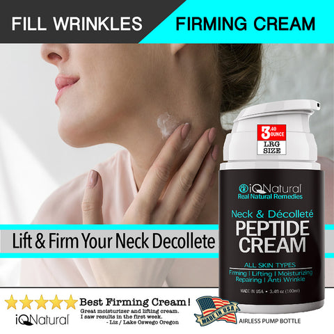 Peptide Neck & Décolleté Smoothing Cream - iQ Natural