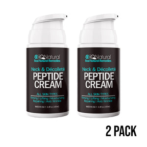 SPECIAL OFFER Peptide Neck & Décolleté Smoothing Cream - iQ Natural