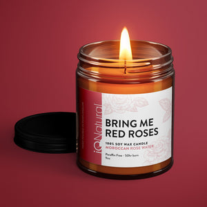 Soy Candle - Bring Me Red Roses - iQ Natural
