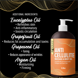 Cellulite Massage Oil Infused with Collagen and Stem Cell - iQ Natural