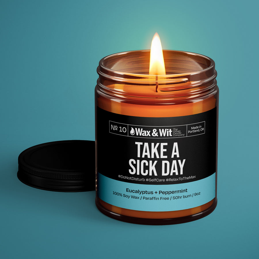 Soy Candle - Take a Sick Day - iQ Natural