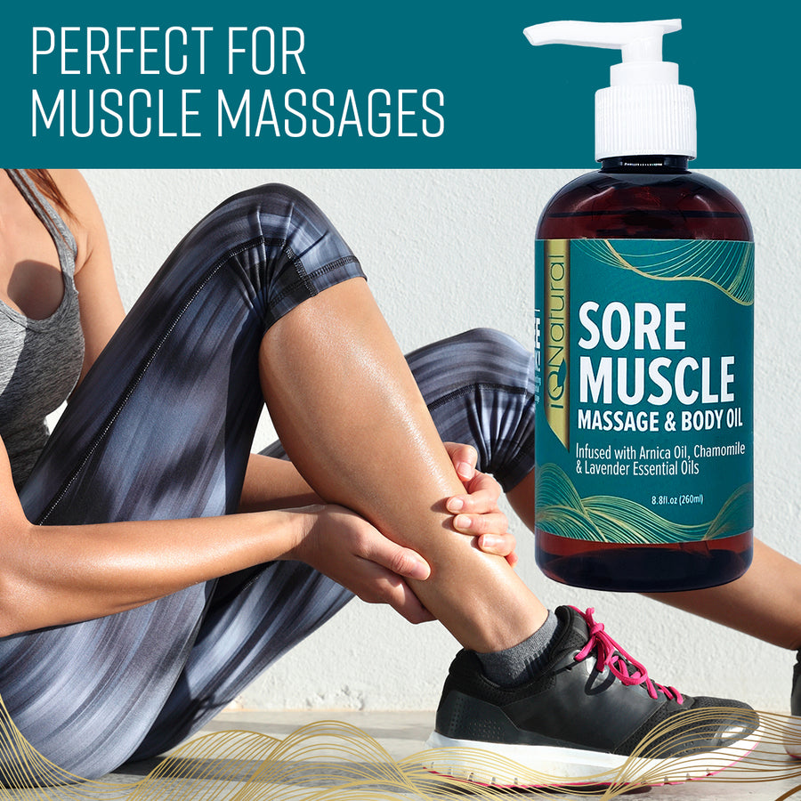 Sore Muscle Massage Oil - iQ Natural